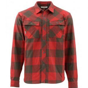 Simms Heavyweight Flannel Ruby Plaid