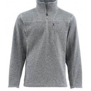 Simms Rivershed Sweater Quarter Zip – Smoke