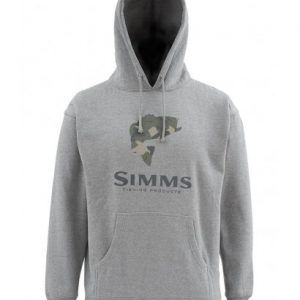 Bass Logo Hoody-Gun Metal Heather
