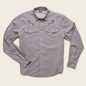 Howler Gaucho Snapshirt Cement Grey Oxford Seagull