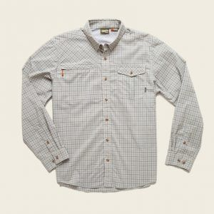 Howler Brothers Matagorda Shirt Nueces Plaid Slate Blue